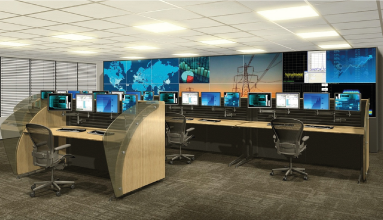 maquetes 3d para salas de controle