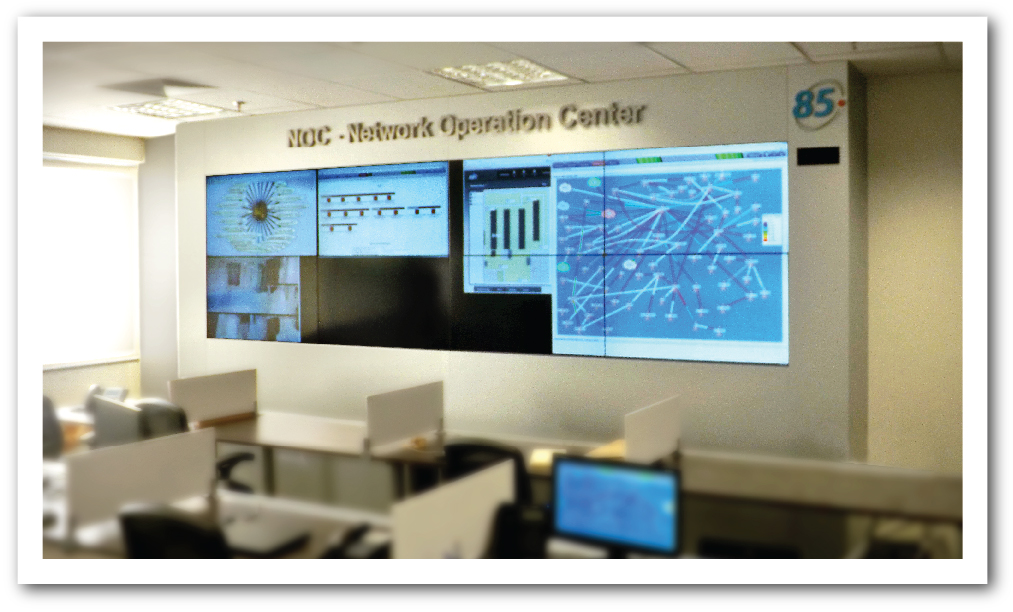 Videowall para NOC - Network Operation Center - America Net