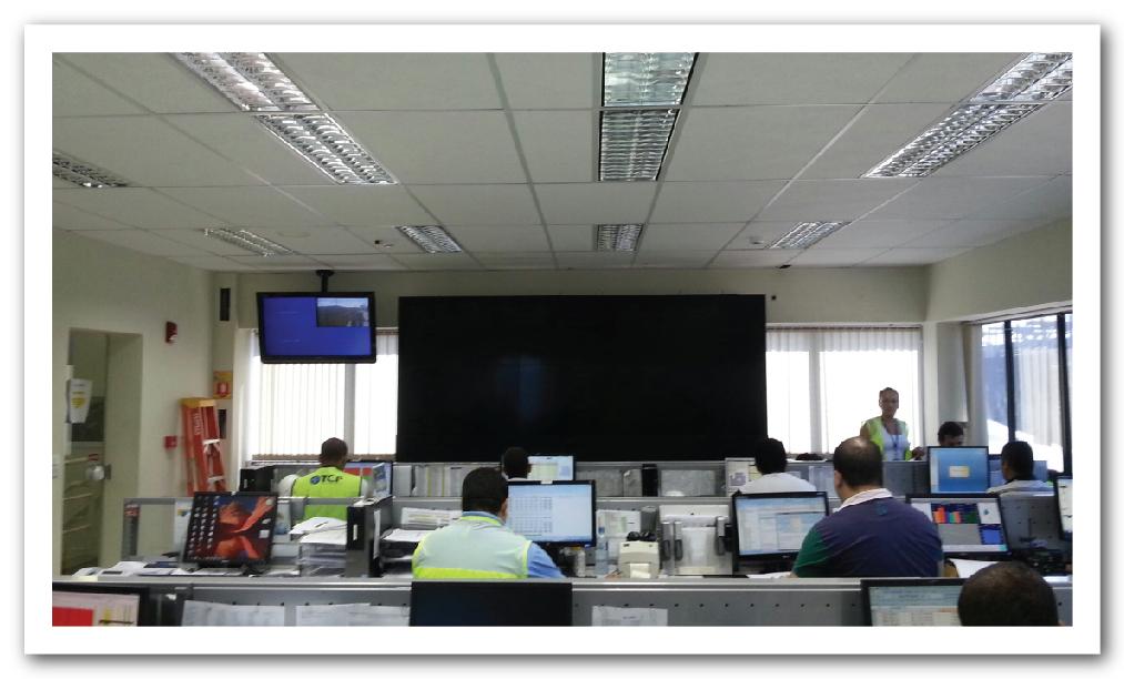 Terminal de Cargas Porto de Paranaguá - Videowall