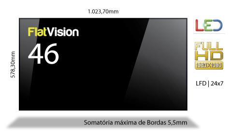 Display Video Wall 46 polegadas