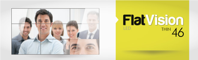 Vídeo Wall Flat Vision 46 QX2Box Led