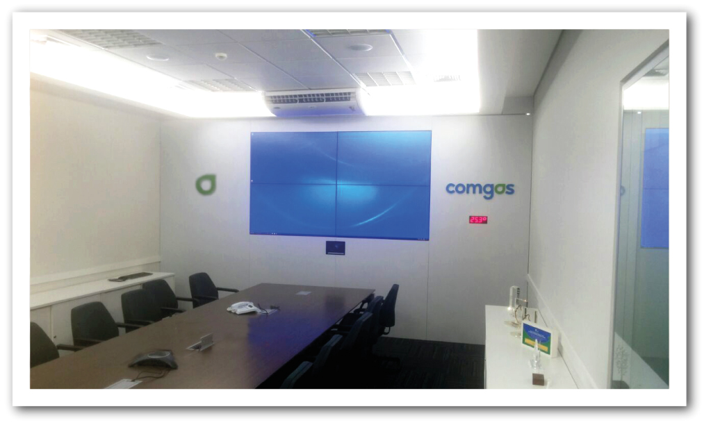 Videowall Comgas SP