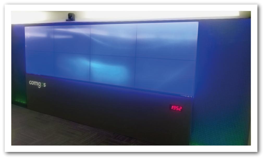 Videowall Comgas 4x2