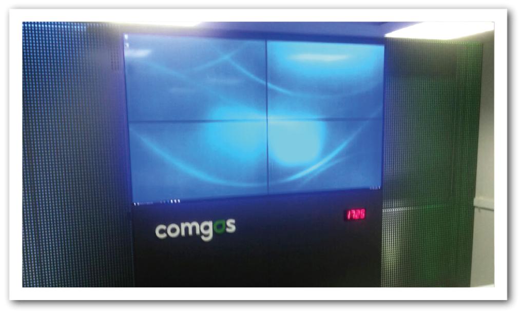 Videowall Comgas 2x2 grafite